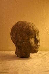 cast concrete self-portrait