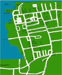 STREET MAP, DOWNTOWN BAR HARBOR, MAINE