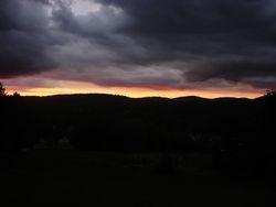 Sunset from Mt. Sabattis