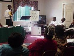 Bishop Curtis Sims lecturing