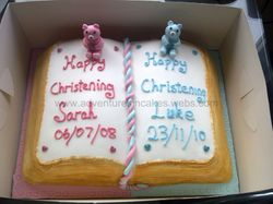 Joint Boy and Girl Christening Cake Book
