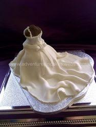 Wedding Dress Cake (back)