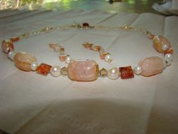 Fire and Ice Necklace Set