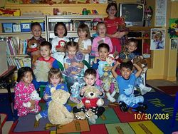 Teddy bears and Jammie day