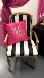 Kate Spade black & white stripe chair