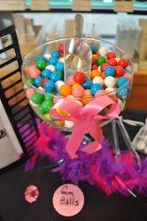 **CANDY  BUFFET  for a BREAST CANCER AWARENESS**