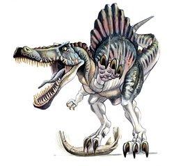 Spinosaurus Watercolor Painting