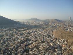 Uitzicht vanaf Jabal an Nur, vlakbij de grot Hira