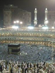 Megadruk in Masjid al Haram met 'Eid
