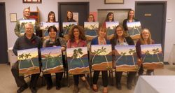 Wine and Paint Party.
