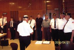 2010-2011 Staff being sworn in by D-4 Commander