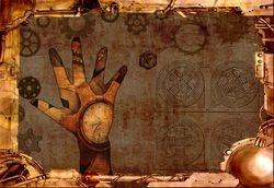 Steampunk wallpaper.