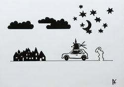 Rabbitman Driving home for Christmas