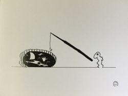 Rabbitman Fishing for Help