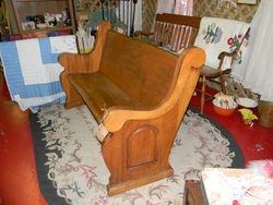 Oak deacon's bench