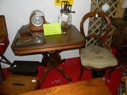 Walnut table-SOLD! walnut chair