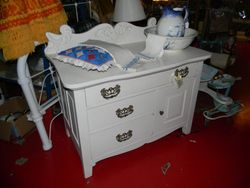 oak painted commode