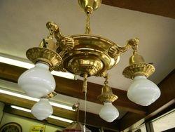 Brass chandelier restored