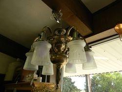 Antique chandelier restored