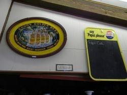 Pepsi menu Coors painted sign