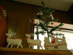 German feather tree santa's sleigh