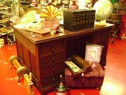 walnut partner's desk