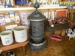Great Western stove and stoneware
