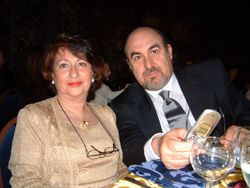 Con mia moglie Francesca ad una cena di Gal