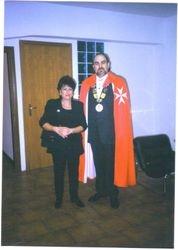 Antonio e Francesca Marcenò dopo la nomina a Cavaliere di Malta