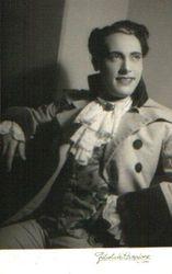 Mario Del Monaco in una foto delle Chénier a Palermo