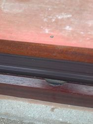 Upvc  Mahogany door frame cracked at threshold to be repaired pic 1 of 4