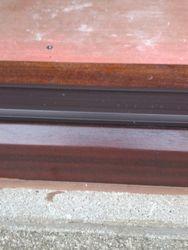 Repair complete to cracked Mahogany Upvc Door threshold