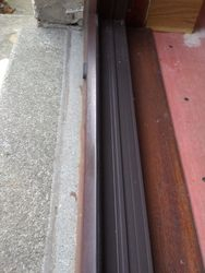 Cracked Upvc Mahogany door threshold fully repaired pic 4 of 4