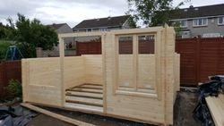 log cabin build in progress pic 4
