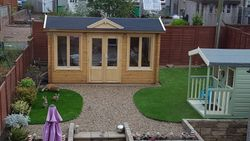 Log cabin and playhouse completed pic 10