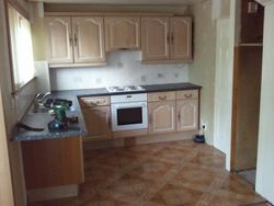 kitchen to be removed & upgraded to Magnet juno Kitchen with wenge worktops & splashback panels  pic 1