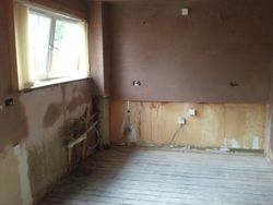 kitchen removed and plastered pic 4