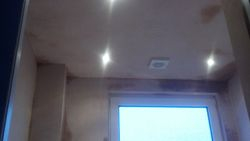 ugraded bathroom  ceiling plastered and recessed lights installed pic 7 of 12
