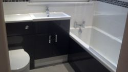 Upgraded bathroom completed with new furniture and tiling pic 8 of 12