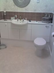 Matt white bathroom vanity units