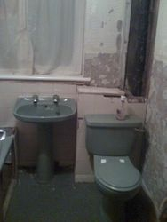 bathroom 1 before renovation, see next pic in the picture gallery for completed renovation.