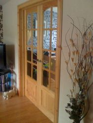 wickes glazed pine french doors.