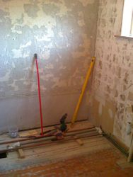 pic 3 all wall tiles and old bathroom suite removed.