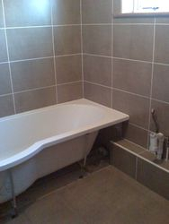 pic 4 start of new bathroom installation after new wall tiles installed