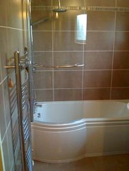 pic 8 Bathroom  completed with new suite shower and curved screen and towel raidiator