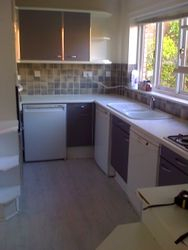 grey and white matt kitchen before upgrading (pic 1 )