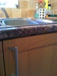Laminate worktop repairs completed pic 4