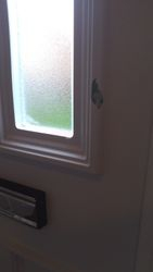White Upvc door crack/hole  to be repaired pic 1 of 2