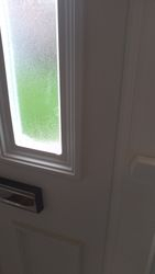 White Upvc front door crack /hole fully repaired pic 2 of 2