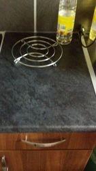 Burn in laminate worktop repair completed pic 3